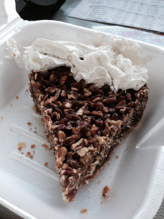 Pecan pie from Troy's in Rome, GA... more to come.