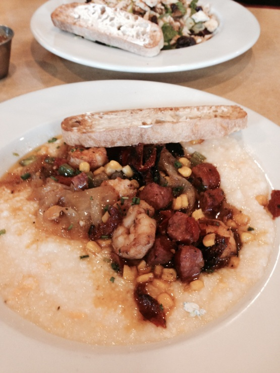 Shrimp and Grits from First Watch in our home city.