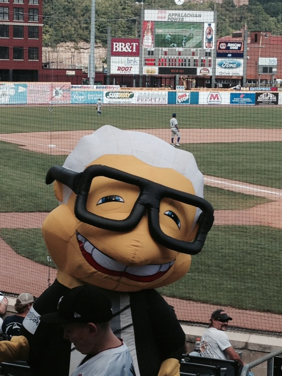 "The ZOOperStars Harry Canary at Appalachian Power Park.  And yes... he ""sings."""
