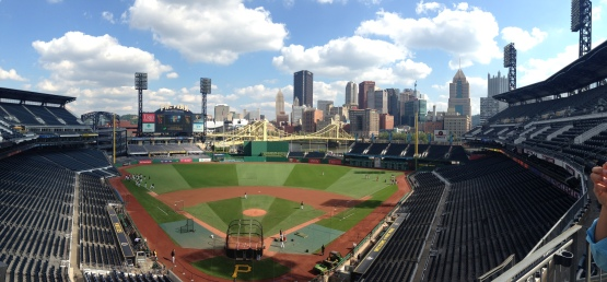 PNC Park from the club level.