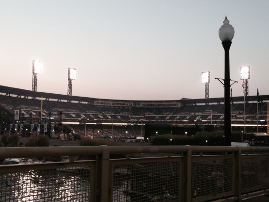 Walking over the Clemente Bridge towards PNC Park prior to the 2014 NL Wild Card game.