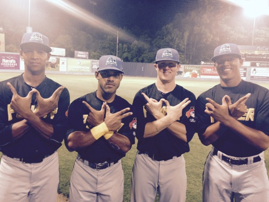 The four Power All-Stars:  Junior Lopez, Elvis Escobar, Chase Simpson and Yeudy Garcia.